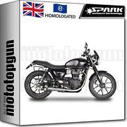 Spark 2 Exhaust Approved Sinfonia Triumph Street Twin 900 2017 17 2018 18