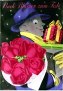 Original Vintage Poster Flowers And Gifts For Holydays 1947