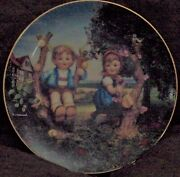 Hummel Little Companions Apple Tree Boy And Girl Collectible Plate