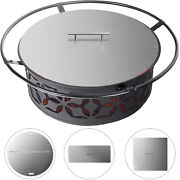 Fire Pit Cover Lid For Drop-in Fire Pit Pan/ring Proctecter Stainless Steel