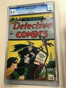 Detective Comics 80 1943 Cgc 5.5 Ow/white Pages Two Face Cover