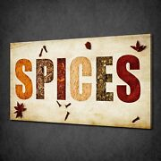 Kitchen Spices Sign Herbs Collecion Box Canvas Print Wall Art Picture