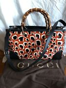 Authentic Limited Black Leather With Fur Animal Print 2 Ways Bag