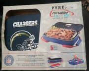 Pyrex Portables Nfl Los Angeles Chargers 3 Qt Baking Insulated Food Carrier Set