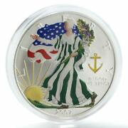 United States 1 Dollar Liberty In God We Trust Seafaring Silver Coin 2007