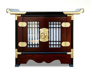 Korean Traditional Telephone Table, Muntin Design Table, Interior Antique Table