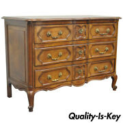 Country French Provincial Louis Xv Style Cherry Bachelor Chest Of Drawer Commode