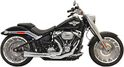 Bassani Road Rage Exhaust For 2018-19 Harley Fat Boy / Breakout - Chrome - 1s94r