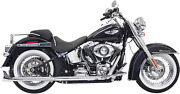 Bassani True Duals Exhaust For 2007-17 Harley Softail Models - Chrome - 1s66e-30