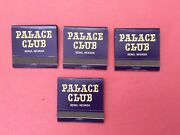 4-vintage Palace Club Reno Nevada. Full Matchbooks Mint Condition.