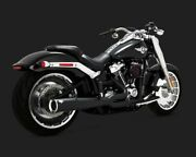 Vance And Hines 47589 Black Pro Pipe 2-into-1 Full Exhaust System 18-19 Softail