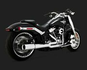 Vance And Hines 17589 Chrome Pro Pipe 2-into-1 Full Exhaust System 18-19 Softail