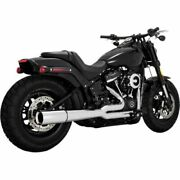 Vance And Hines 17587 Chrome Pro Pipe 2-1 2 Into 1 Exhaust Harley Softail 2018
