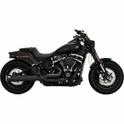 Vance And Hines 47587 Black Pro Pipe 2-1 2 Into 1 Exhaust Harley Softail 2018