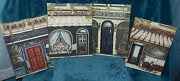 4 Lovely Cafe/bistro Street Front Pictures/paintings On Canvas Italy France