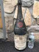 Rare Huge 1943 Moet And Chandon Champagne Display Bottle Glass Dummy Centenary