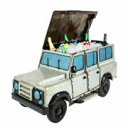 Think Outside Land Rover City Cooler With Functional Wheels Metal Car Nwt