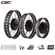 20 24 26 Inch Color Rims Electric Fat Tire Bike Bicycle Conversion Kit 48v 1500w