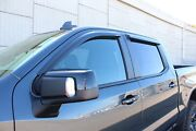 Tape-on Wind Deflectors 2019-2021 Chevy Silverado 1500 Crew Cab
