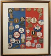 Homer Hill 1960s Political Button Presidential Campaign Illustration Painting