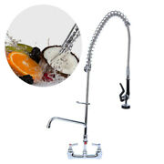 Commercial Pre-rinse Sink Faucet Kitchen 12 Add-on Mixer Tap Pull Down Sprayer