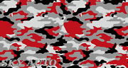 Red Black Gray White Large Camo Vinyl Car Wrap Sheet + Free Tools 2 Feet And Up
