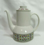Royal Doulton Tc1080 Fireglow 4 Cup Coffee Pot With Lid Vgc Reduced