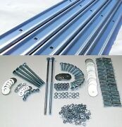 Bed Strips Kit Ford 1948 - 1952 Polished Stainless Steel Long Bed Wood Stepside