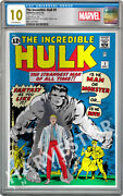 Marvel Comics The Incredible Hulk - Silver Foil - Cgc 10 Gem Mint First Release