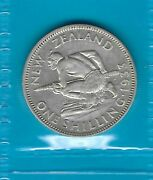 New Zealand 1933 King George V Silver Shilling 1/- Coin Ef No 4