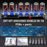 Diy Kit For In-18 Arduino Shield Nixie Tubes Clock With Columns [tubes Optional]