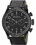 Brera Orologi Watches Brclc4804 Classico Leather Strap Watch Blackout With Date