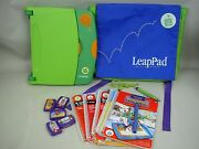 Leap Frog Leap Pad Learning System With 5 Books, Cartridges, And Back Pack
