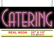 Catering Neon Sign | Jantec | 32 X 13 | Barbecue Party Wedding Food Delivery