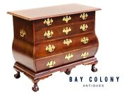20th C Baker Mahogany Bombe / Kettle Dresser / Chest Antique Chippendale Style