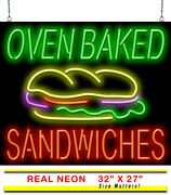 Oven Baked Sandwiches Neon Sign | Jantec | 32 X 27 | Deli Diner Cafe Subs Bar