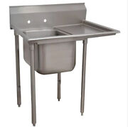 Cmi Commercial Utility Stainless Steel Kitchen Sink Laundry Right Drainboard