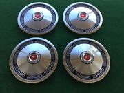 1974 Ford Mustang Hubcaps New 13andrdquo Factory Vintage Wheel Caps Set Oem