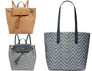 Junie Woven Leather Backpack Or X Lge Tote Admiral Blue Or Acorn