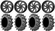 Msa Milled Switch 18 Wheels 33x8 4ply Bkt 171 Tires Can-am Commander Maverick