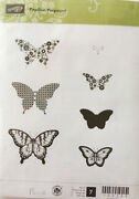 Stampin Up Retired Papillon Potpourri 7 Clear Stamps New Scrapbook Cardmaking