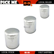 3pcs Motorcycle Silvery Oil Filter For Harley Davidson Fxbr Breakoutandnbsp2018