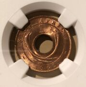 1942 East Africa One Cent Ngc Ms 63 Rb - Bronze