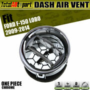 Dashboard Havc Heater Air Vent Duct Chrome For Ford F-150 Lobo 2009-2014 74932
