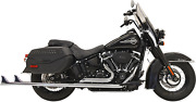 Bassani True Duals Exhaust For 2018-19 Harley Softail Models - Chrome - 1s76e-39