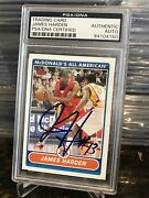 James Harden Auto 2007 Topps Mcdonalds All-american Rc Rookie Psa/dna Auth