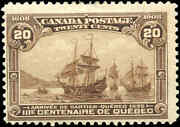 Canada Mint H F Scott 103 20c 1908 Quebec Tercentenary Issue Stamp