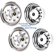 22.5 8 Lug 4 Hole Wheel Simulators Stainless Rim Hubcap Liner Covers Set Of 4 Andcopy