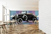 3d Ford Convertible A68 Car Wallpaper Mural Self-adhesive Removable Zoe