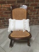 Victorian Antique Folding Wooden Rocking Chair - Child Size Retro/ Boho/ Vintage